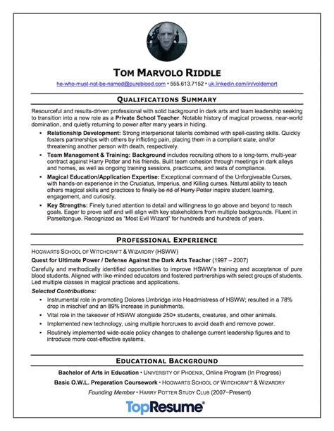 we helped harry potter s nemesis rewrite his resume topresume