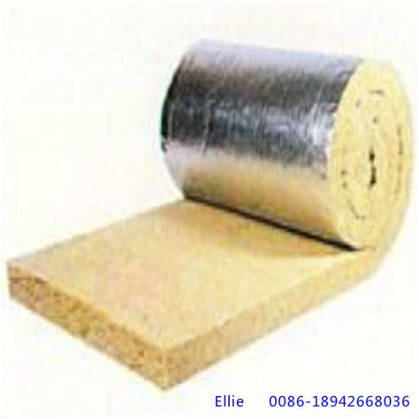 Insulation Rockwool rock wool blanket roll with aluminium foil on one side
