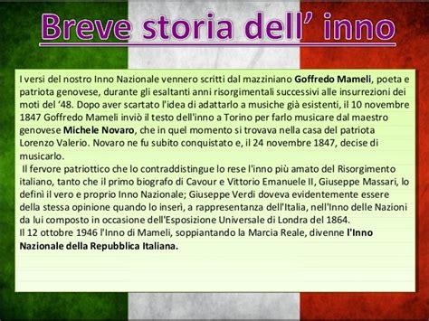 testo dell inno di mameli inno di mameli il risorgimento italiano