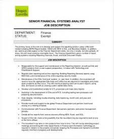 Business Systems Analyst Description Sle by 10 Systems Analyst Descriptions Free Sle