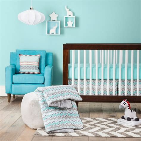 trend lab chevron crib bedding set target