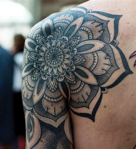 Mandala Tattoo Quarter Sleeve | black and grey sugar skull tattoo sugar skull tattoos quotes
