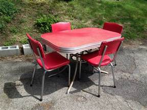 Chrome Kitchen Table And Chairs by 1950s Red And Chrome Kitchen Table And Chairs Attainable