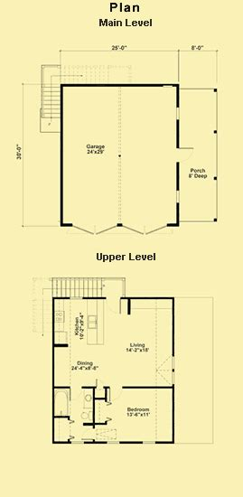 garage floor plans with living quarters two car garage plans with a one bedroom apartment upstairs
