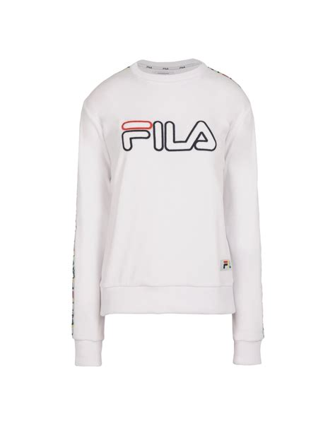 Sweater White Sf T1310 fila shirts for sale fila heritage coco crop sweater sweatshirt white jumpers and