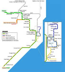 Miami Metro Rail Map by Urbanrail Net Gt North America Gt Usa Gt Florida Gt Miami