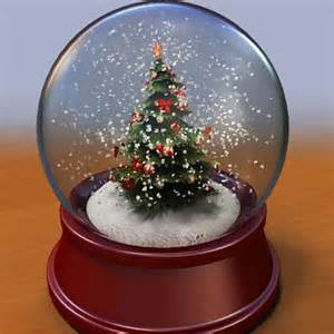 musical christmas snowglobe santa claus and christmas