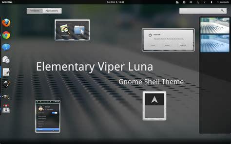 gnome themes reddit elementary viper luna shell gnome shell theme linuxnov
