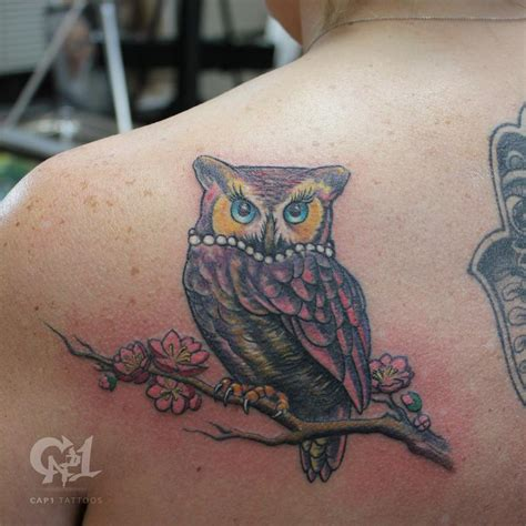 owl tattoo in color color owl tattoo by capone tattoonow