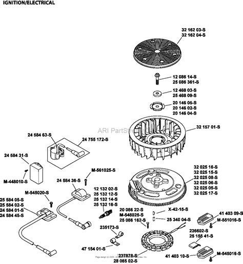 kohler sv735 0016 husqvarna 26 hp 19 4 kw parts diagram