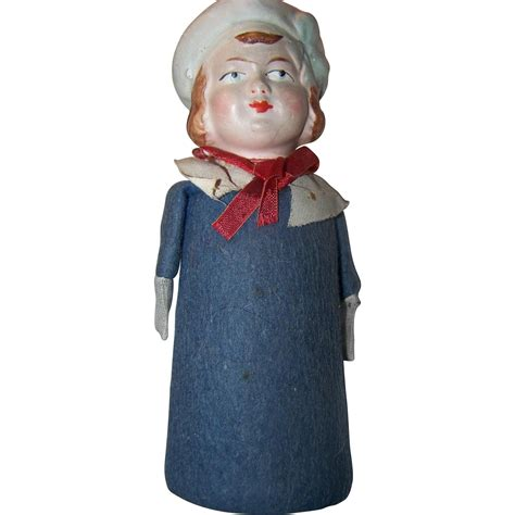 antiques collectibles dolls paper mache german doll rattle side glancing eyes buy