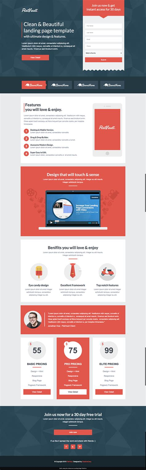 8 Mobile Friendly Landing Page Templates Designed With Love Mobile Landing Page Template