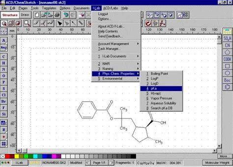 scientific drawing software chemical structure drawing software