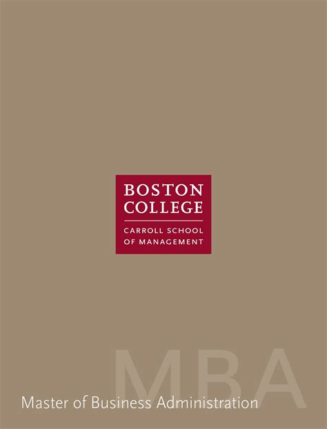 Boston College Carroll Mba Essays by Mba Program Carroll School Of Management By Boston