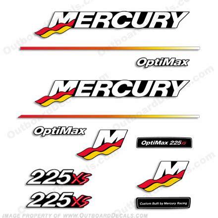 mercury 225xs racing decal kit 2003 2004