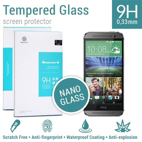 Tempered Glass Km nillkin screen protector tempered glass 9h nano htc one m8