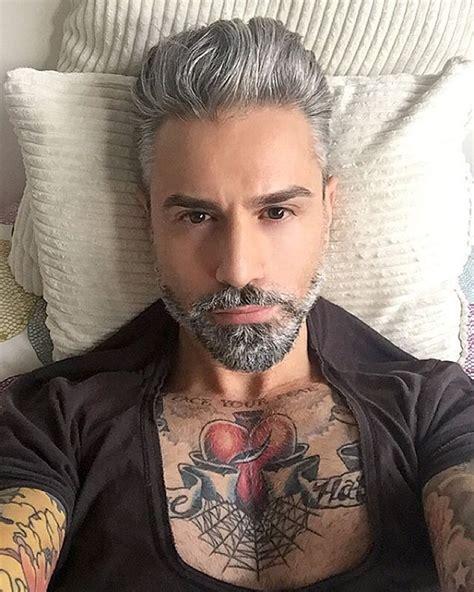 silver fox tattoo alessandro manfredini silver fox x on ig ink beard