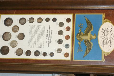 20th Century Coins Framed by Framed Us Coins Of The 20th Century Every Type Coin