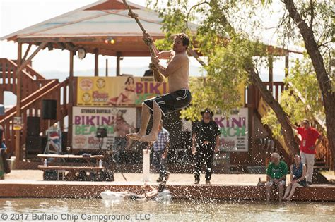 buffalo swing ultimate rope swing contest at buffalo chip s bikini beach
