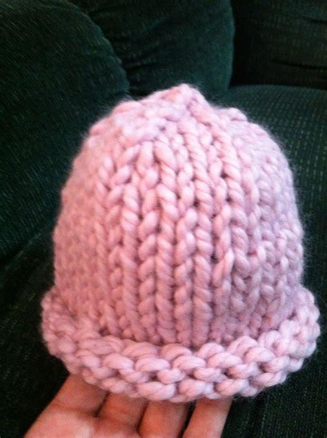 knitting pattern bulky yarn hat knitting patterns galore bulky rolled rim newborn hat