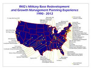 army bases map rkg associates what we do base consulting