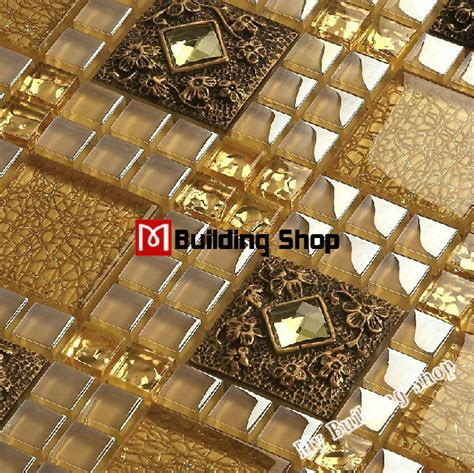 3d glass tile backsplash resin mosaic wall sticker rnmt045
