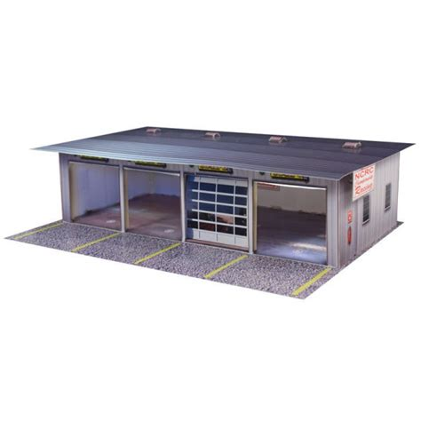Organized Spaces by Bk 6411 1 64 Scale Quot 4 Stall Pit Garage Quot Photo Real Scale