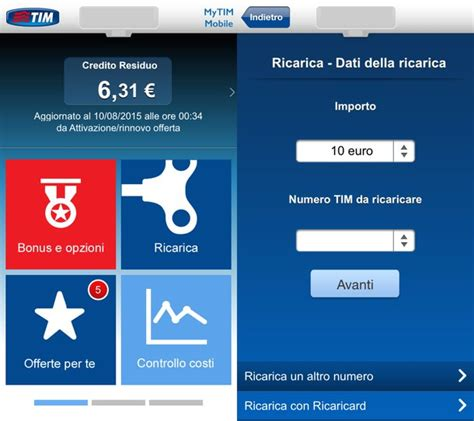 linea mobile tim app tim per android