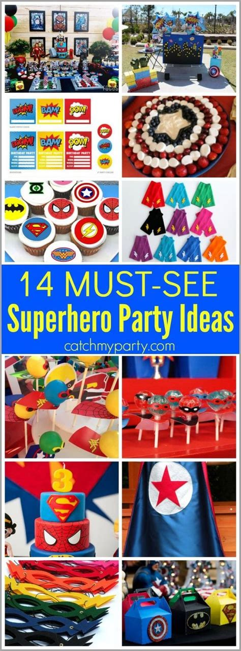 printable superhero party decorations 14 must see superhero party ideas superhero party