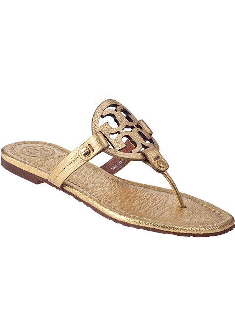 burch miller sandal burch miller sandal gold leather in metallic lyst