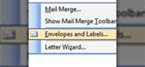 How To Make Return Address Labels In Word