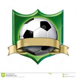 soccer crest award with blank gold label royalty free