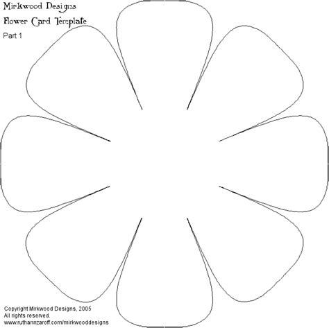 flower cut out template