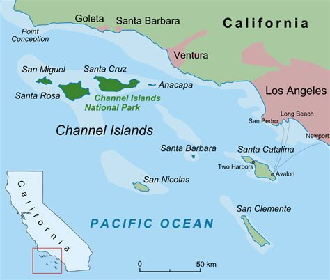map of us island swim routes santa barbara channel swimming association