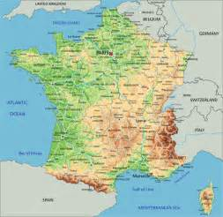 Physical Map Of France by Physical Map Of France Related Keywords Amp Suggestions