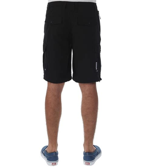 bench shorts mens bench hybe cargo shorts in black for men lyst