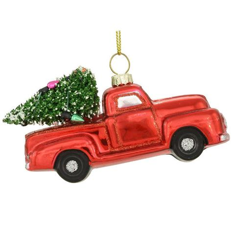 red christmas vintage pick ups for sale truck glass ornament 1196138 baubles n bling