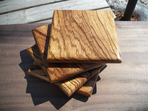 Handmade Wooden Coasters - handmade wood coaster set free shipping