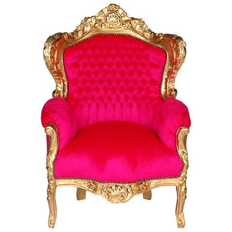 pinker sessel sofa sessel barock pink antikes design polstersessel
