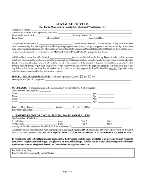 Application Form Template Rental Application In Pdf Free Arkansas Rental Application Form Pdf Dc Residential Lease Agreement Template