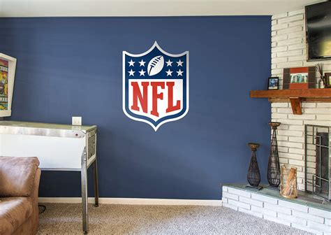 Nfl Home Decor Nfl Logo Wall Decal Shop Fathead 174 For Nfl Decor