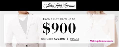 Gift Card Saks Fifth Avenue - saks fifth avenue free gift card gifts makeup bonuses