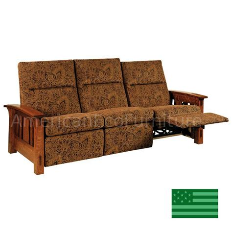 sofas made in usa amish mccoy recliner sofa solid wood made in usa