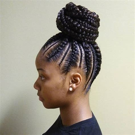 new cornrows ponytail hairstyles