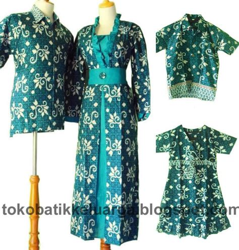 Batik Pasangan Kebaya Modern Sarimbit Keluarga Seragaman batik sarimbit keluarga gamis muslim modern sk17 murah di