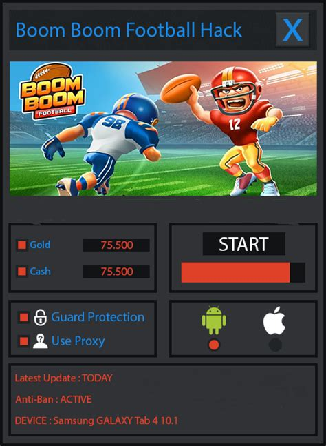 mod game ios boom boom football hack cheats and mod 2015 free