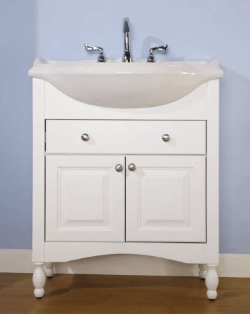 single sink narrow depth furniture bathroom vanity