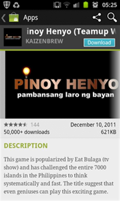 eat bulaga's pinoy henyo now top free android app