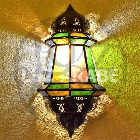 large colored lights buy large moroccan wall light of colored glass 47 cm