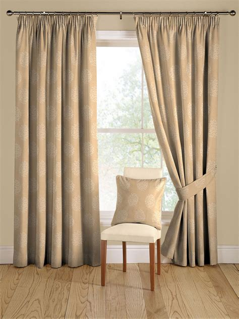 Montgomery Pom Pom Soft Gold Curtains 116cm X 182cm